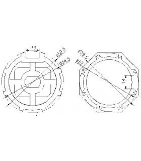 Adaptador AT15 Octogonal diam.59,5 para MT45