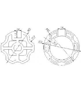 Adaptador AT18 Hexagonal diam.65,5 para MT45
