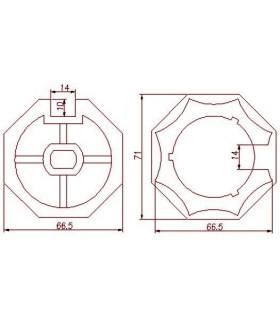Adaptador AT19 Octogonal diam.67 para MT45