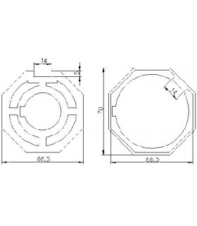 Adaptador AT30 Octogonal diam.67 para MT59