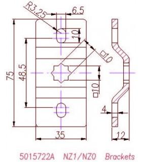 Soporte ST01 para Motor Twister MT35/45