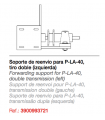 Reenvío tiro doble PLA-90º.Soporte de reenvío para PLA-40 (izquierda)