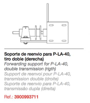 Reenvío tiro doble PLA-90º.Soporte de reenvío para PLA-40 (derecha)