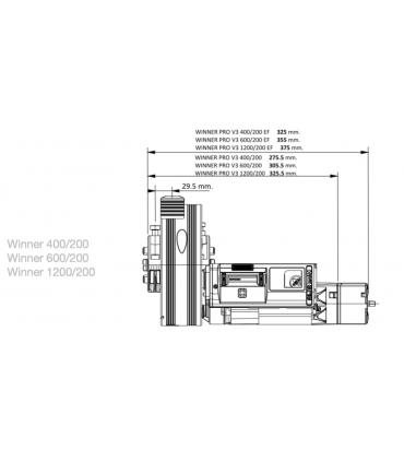 KIT WINNER 170 KG: kit para motorizar puertas enrollables
