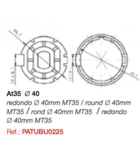 Adaptador AT35 redondo diam.40 para MT35
