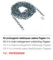 Kit prolongación desbloqueo cadena 4 m para PEGASO