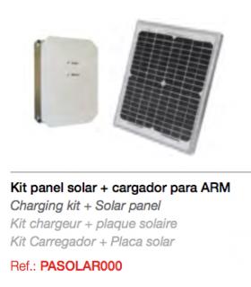 Kit panel solar con cargador para MiniRadius y ARM  24V.