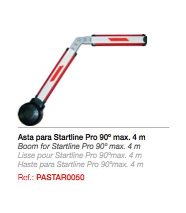 Asta para Startline Pro articulada 90º Rectangular