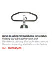 Barrera de parking individual abatible.Con cerradura