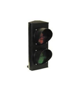 Semáforo de destello LED VERDE-ROJO 100 mm 24V.