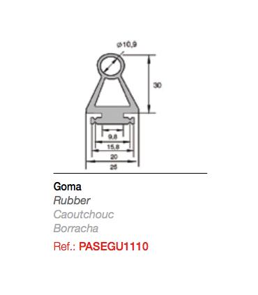 Goma para Célula optosensora para Radioband